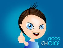 Good choice boy Royalty Free Stock Images