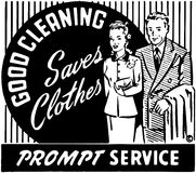 Good Cleaning Saves Clothes 2 Royalty Free Stock Image