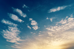 Good cloudy sky in sunset Royalty Free Stock Image