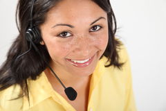 Good communications by receptionist on telephone Royalty Free Stock Photos