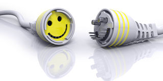 Good Connection Happy Face Cable Stock Photo