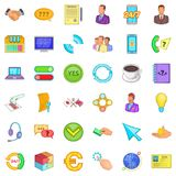 Good connection icons set, cartoon style. Good connection icons set. Cartoon style of 36 good connection vector icons for web isolated on white background Stock Photo