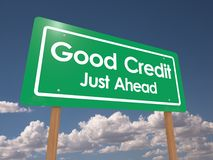 Good credit just ahead Royalty Free Stock Photos