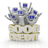 Good Credit Scores - People Cheering Royalty Free Stock Photography