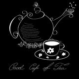 Good cup of tea. Universal template for greeting card, web page, background Stock Photography
