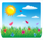 Good day. Summer sunny day. Vector Illustration Stock Photo