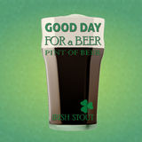 Good day for a beer - Irish stout Royalty Free Stock Photos
