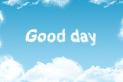 Good day - cloud word Stock Photo