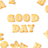 Good day cookie font alphabet Royalty Free Stock Photography