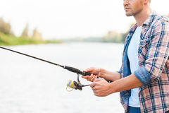 Good day for fishing. Stock Photo