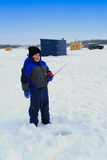 A Good Day Ice Fishing stock photos