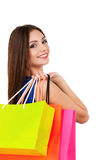 Good day for shopping. Stock Photo