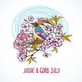 Good day wishing card Royalty Free Stock Photos