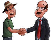 Good deal. Farmer and a businessman shaking hands after a good deal Royalty Free Stock Photo