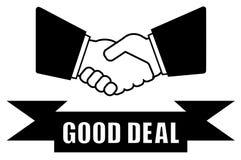 Good deal handshake icon Stock Photo