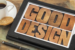 Good design in wood type Stock Images
