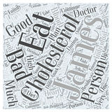 Good diet to lower cholesterol word cloud concept word cloud concept vector background Royalty Free Stock Photo