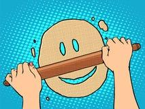 Good dough smiley face Royalty Free Stock Image