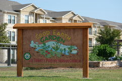 Good Earth Garden Sign  Stock Photography