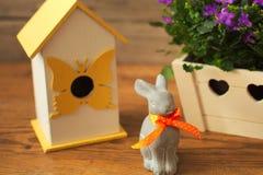 Good Easter holiday small bunny rabbit. Royalty Free Stock Image