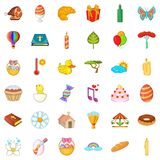 Good easter icons set, cartoon style. Good easter icons set. Cartoon style of 36 good easter vector icons for web isolated on white background Royalty Free Stock Images