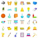 Good education icons set, cartoon style. Good education icons set. Cartoon style of 36 good education vector icons for web isolated on white background Royalty Free Stock Photography