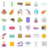 Good energy icons set, cartoon style. Good energy icons set. Cartoon style of 36 good energy vector icons for web isolated on white background Stock Photos
