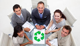 Good environmental practices in a meeting Royalty Free Stock Images
