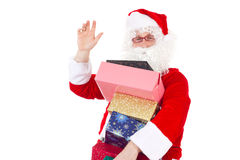 Good evening! I am Santa Claus. Bringing some gifts to you Royalty Free Stock Photo