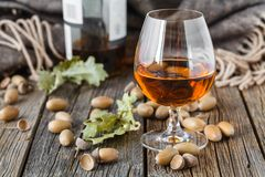 Free Good Evening With Book And Glass Of Alcohol Drink Royalty Free Stock Photo - 100122545