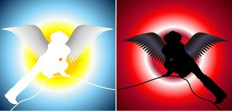 Good and evil Stock Photography