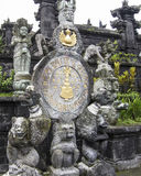 The good and evil characters of the Balinese epic are made from volcanic tuff. The good and evil characters of the Balinese epic are made from volcanic rock Stock Images
