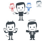 Good and Evil. Icon man. Set#022 Stock Image