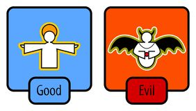 Good and evil symbols Stock Photography
