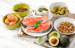Good fats sources. Royalty Free Stock Photo