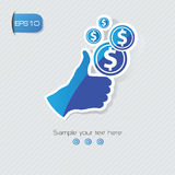 Good finance concept symbol,vector. Good finance concept symbol,illustrator,vector Stock Photo