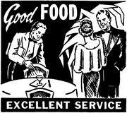 Good Food Excellent Service Stock Images