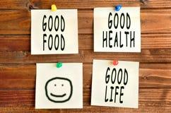 Good food Good life Stock Photos