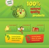 Good Food Template Stock Image