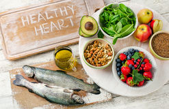 Good Foods for healthy Heart. Royalty Free Stock Photo