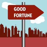 Good fortune signpost Stock Images
