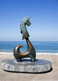 Good Fortune Unicorn (Sculpture) Royalty Free Stock Photo