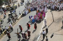 Good Friday 2010. In these times of religious and racial tension, in a small town called Jabalpur in India a procession took place which sent out a strong stock images