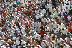 Good Friday 2010. In a small town (Jabalpur) in India a procession took place which sent out a strong message to all, of the suffering endured by our Lord with royalty free stock photography