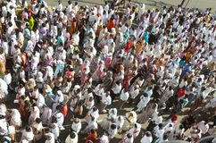 Good Friday 2010. In a small town (Jabalpur) in India a procession took place which sent out a strong message to all, of the suffering endured by our Lord with royalty free stock photo