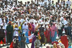 Good Friday 2011. In these times of religious and racial tension, 9000 miles away in a small town in India a procession took place which sent out a strong royalty free stock photos