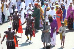 Good Friday 2011. In these times of religious and racial tension, 9000 miles away in a small town in India a procession took place which sent out a strong Royalty Free Stock Photo