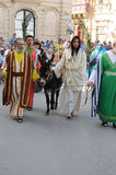 Good friday. Procession in Zebbug. In Zebbug is the famost and longest procession in Malta that celebrates the cycle of death and resurrection of Jesus Christ Royalty Free Stock Photography