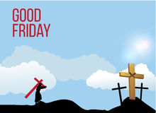 Good Friday background concept with Illustration of Jesus cross. Stock Photo