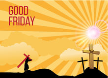 Good Friday background concept with Illustration of Jesus cross. Royalty Free Stock Image